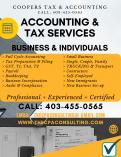 TAX RETURN BY EXPERIENCED PROFESSIONALS: $35 T1-Single , $350 T2-Corporate Calgary City Accounting 4 _small