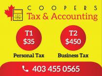 TAX RETURN BY EXPERIENCED PROFESSIONALS: $35 T1-Single , $350 T2-Corporate Calgary City Accounting 3 _small